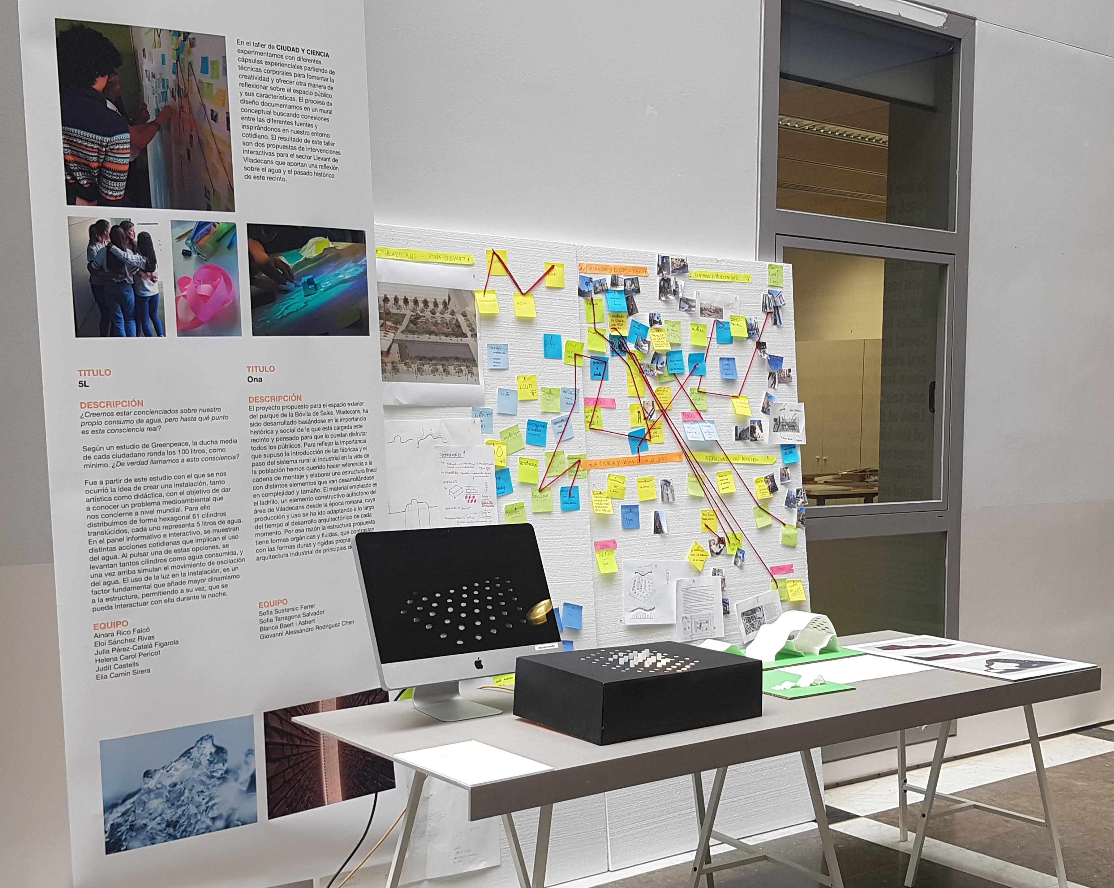 <p>Este viernes hemos inaugurado la exposición ELISAVA Experimenta! Durante una semana, colaboramos en el taller CIUDAD Y CIENCIA para estudiantes de esta escuela de diseño. El objetivo del taller fue diseñar intervenciones interactivas para un nuevo sector urbano en la ciudad de Viladecans. En el taller experimentamos con diferentes cápsulas […]</p>